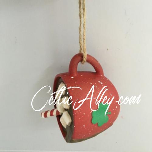 Irish Mug of Hot Chocolate Ornament
