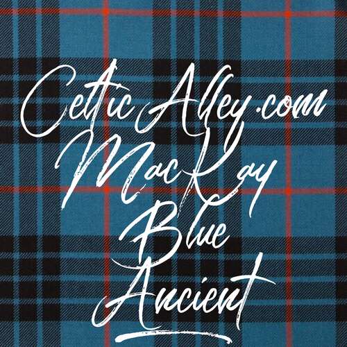 Tartan Throw Blanket In MacKay Blue Ancient