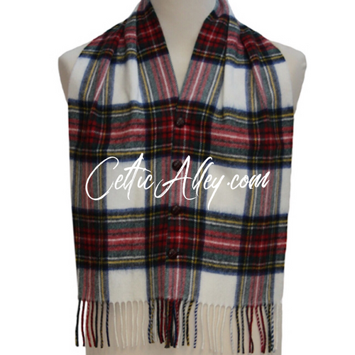 Tartan Lambswool Waist Coat Vest In Stewart Dress
