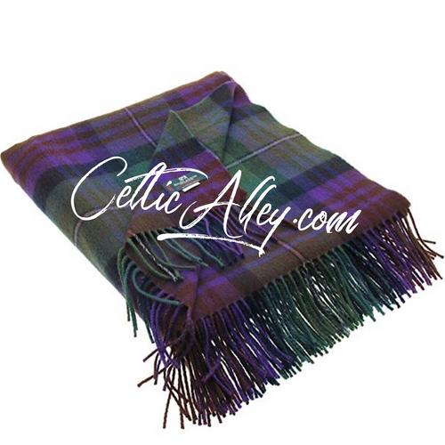 Isle of Skye Tartan Lambswool Throw Blanket
