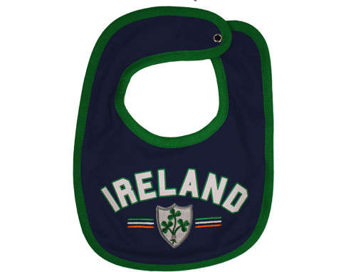 Rugby Ireland Baby Bib in Navy (ONE SIZE)