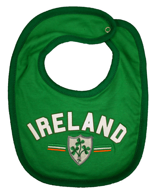 Rugby Ireland Baby Bib in Green (ONE SIZE)