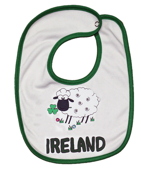 Sheep Ireland Baby Bib in White (ONE SIZE)
