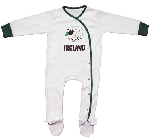 Sheep Ireland Babygrow in White