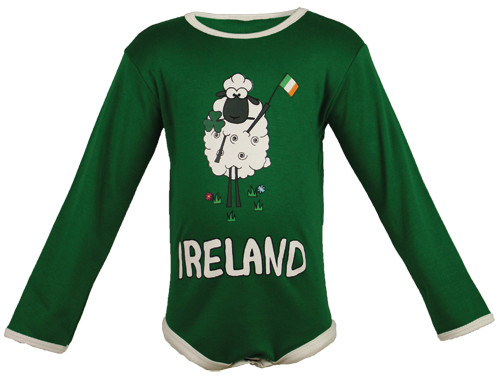 Sheep Ireland Baby Bodysuit in Green