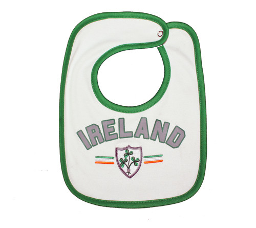 Rugby Ireland Baby Bib in White (ONE SIZE)