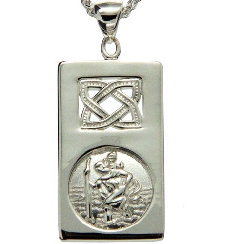 S/sil St. Christopher Pendant By Keith Jack