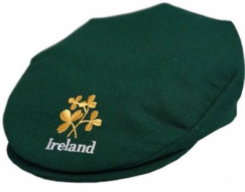 Hanna Hat Donegal IRISH Tweed Vintage Cap in Regency Green Ireland & Shamrocks  HandMade in Ireland 54.99