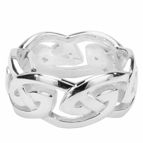 GOWAN RING EXTRA WIDE In Sterling Silver by KEITH JACK  PRS10500