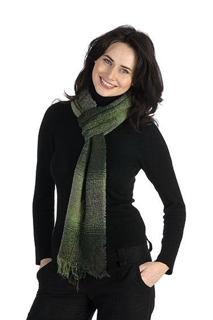 """The beautiful Celtic Ruana has been a staple in our collection for over 30 years. Woven from superfine lambs wool. It is the variety of artistically toned colourways that make this a very stylish, unique garment. Made in Ireland by Kerry Woollen Mills. Lightweight, soft and warm. 85% lambs wool, 15% nylon. One Size fits all. 54"""" x 72"""""""