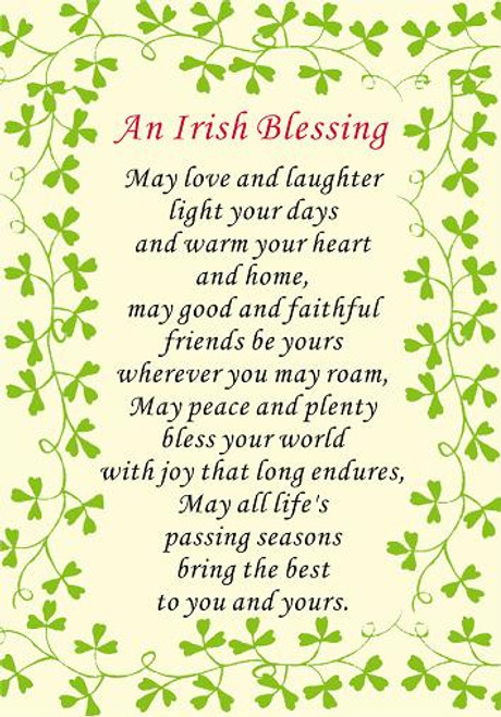 An Irish Blessing Love & Laughter Tea Towel