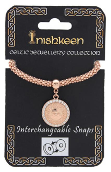 Bracelet Rose Gold Snap - Celtic Cross