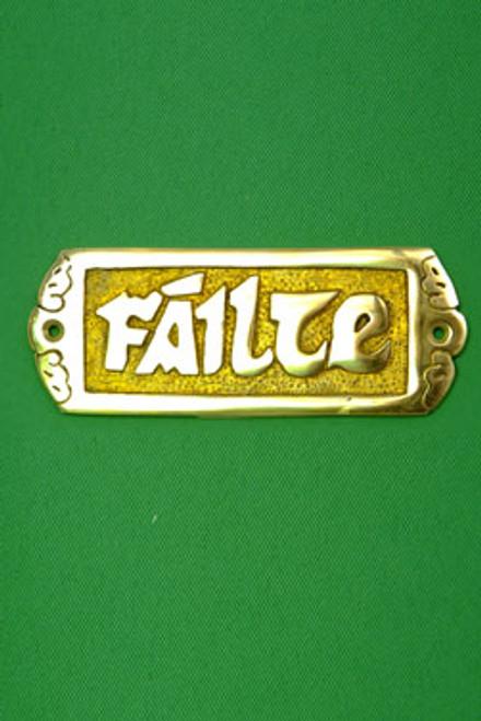 "Brass ""FAILTE"" Plaque Small"