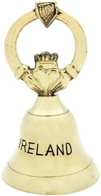 Brass Bell Claddagh Small