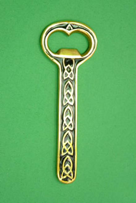 Brass Bottle Opener Celtic Design Black