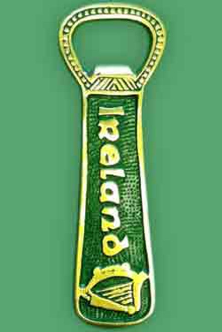 Brass Bottle Opener Ireland Green