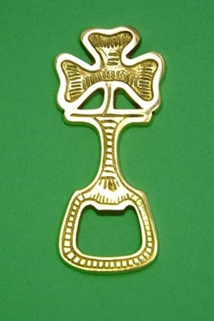 Brass Bottle Opener Shamrock SBO01S