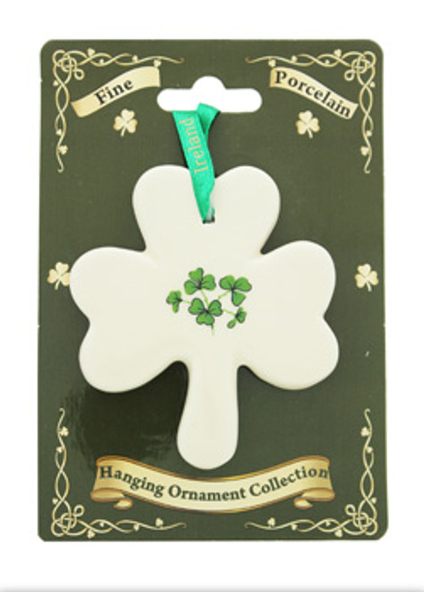 Fine Bone China Ornament Shamrock Flat