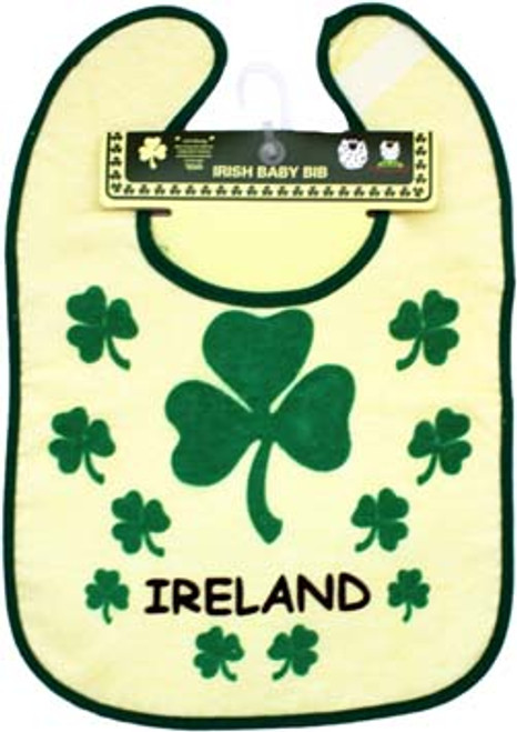 Cotton Bib Shamrocks Ireland