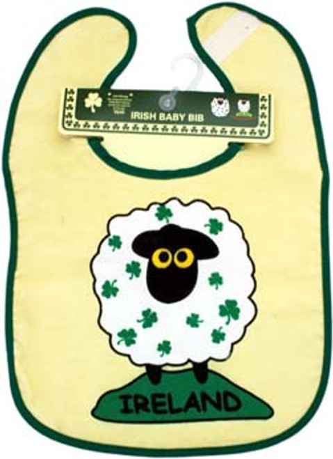 Cotton Bib Sheep & Shamrocks