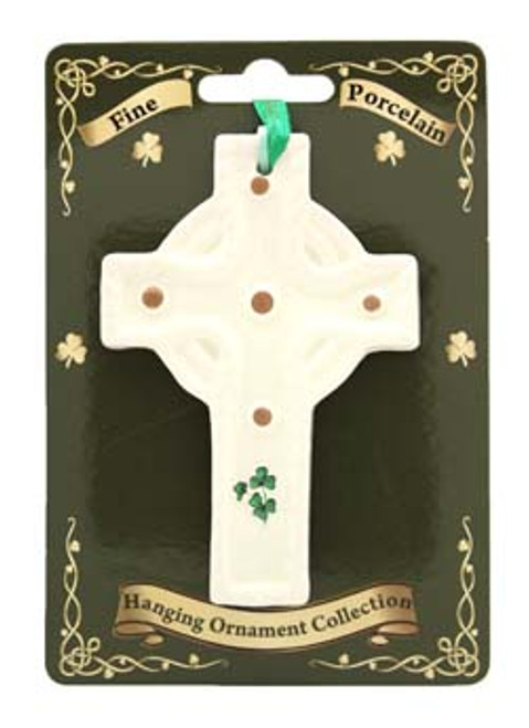 Fine Bone China Hanging Ornament 5 Stud Cross