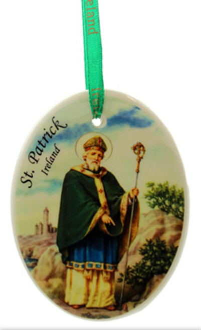 Fine Bone China Hanging Ornament - St. Patrick