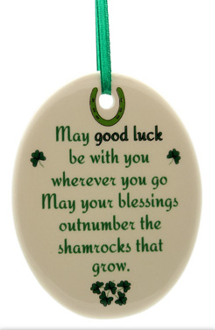 May Good Luck Oval Fine Bone China Ornament