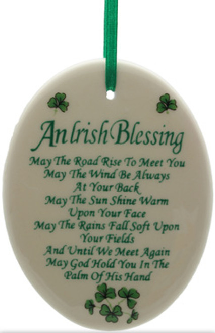 Oval Irish Blessing Fine Bone China Ornament
