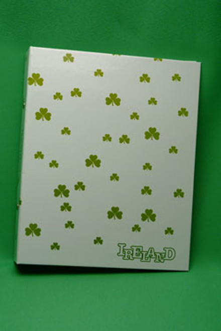 Ring Binder with Shamrocks