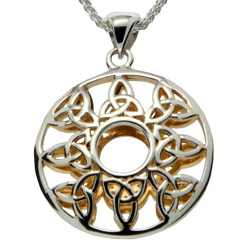S/sil + 22k Gilded Window to The Soul Trinity Pendant By Keith Jack