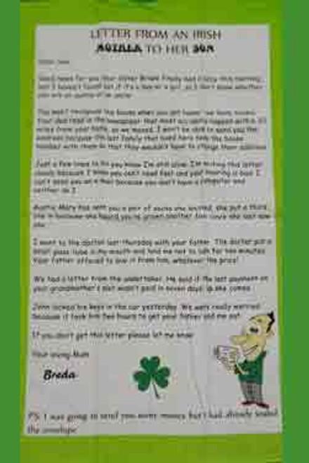 "Tea Towel ""Irish Mother to Son"""