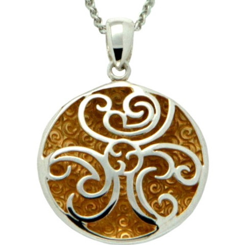 S/sil + 22k Gilded Faerie Pool Pendant By Keith Jack