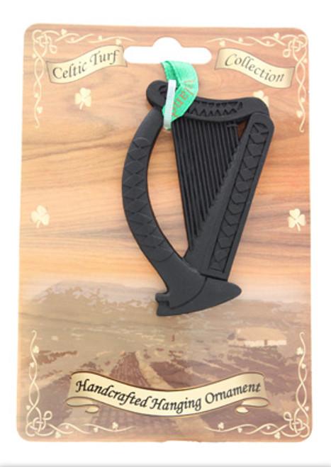 Irish Turf Hanging Ornament - Harp
