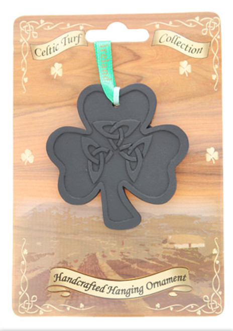 Irish Turf Hanging Ornament - Shamrock