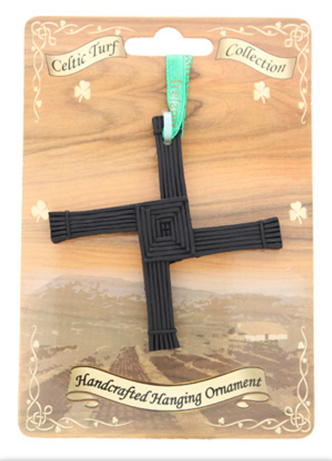 Irish Turf Hanging Ornament - St. Bridget's Cross
