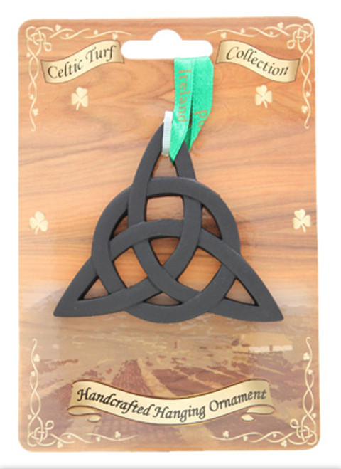 Irish Turf Hanging Ornament - Trinity Knot