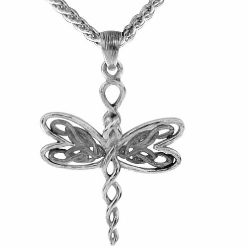 Sterling Silver Rhodium Petite Dragonfly Pendant~By Keith Jack~PPS0067