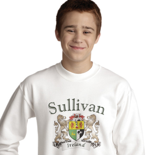 Irish Coat of Arms Sweatshirt in White