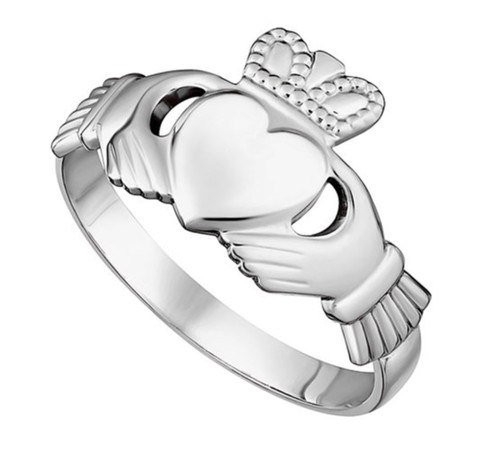 Sterling Silver Maids Standard Claddagh Ring S2280