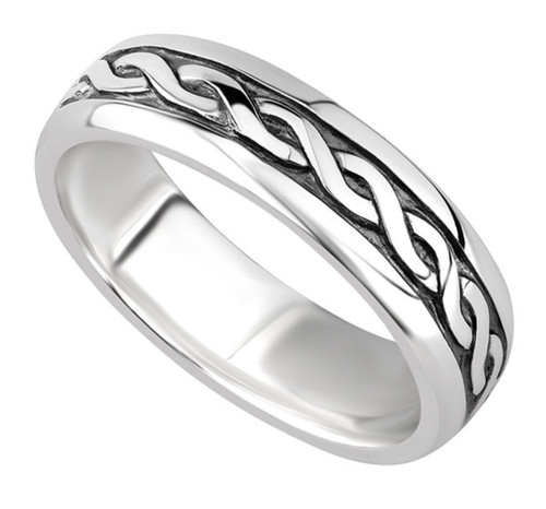 Sterling Silver Ladies Celtic Ring S2648 Irish Made by Solvar Dublin