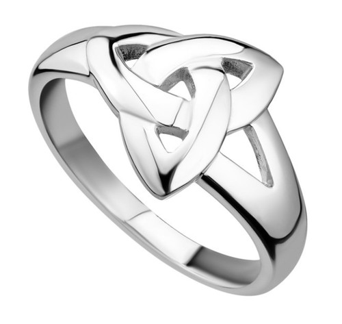 Sterling Silver Plain Trinity Knot Ring S2679