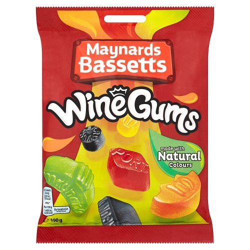 Maynards Wine Gums 190g Bag