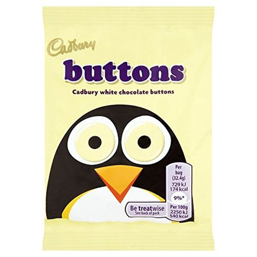 Cadbury White Buttons Chocolate 33g Bag