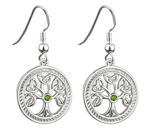 Sterling Silver Tree o'Life Drop Earrings S33230