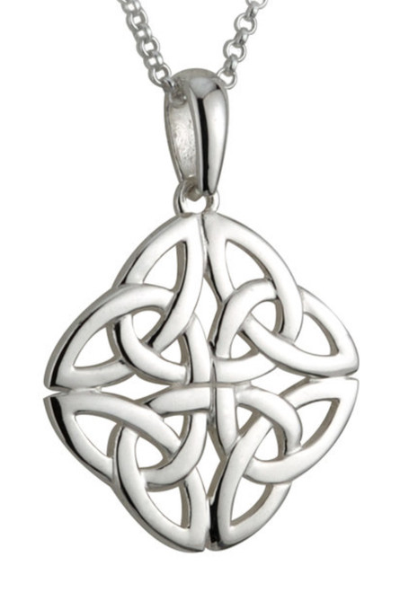 Sterling Silver Four Trinity Knot Pendant S44751