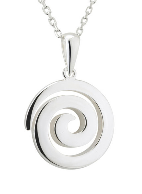 Sterling Silver Spiral Pendant S46361
