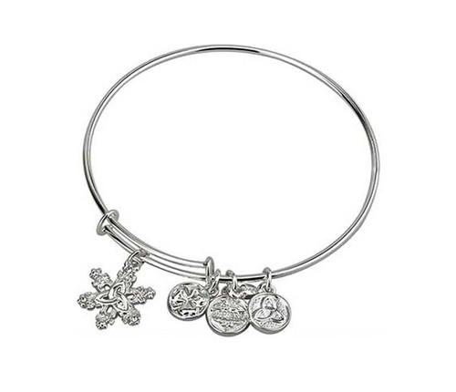 Snowflake Bangle Bracelet S5868