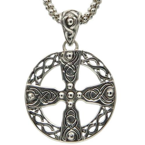 Sterling Silver Celtic Wheel Cross Pendant PPS9006 KEITH JACK