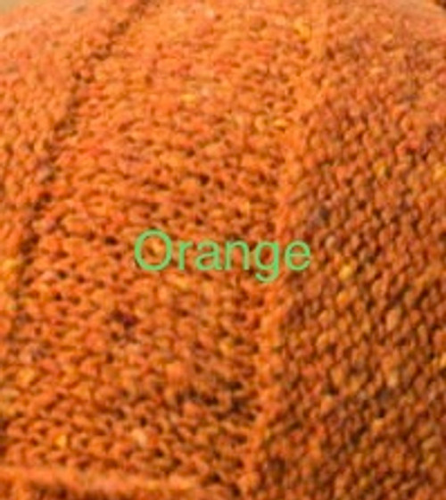 Infinity Scarf Orkney Snood Made by Bill Baber Knitwear in the Color ORANGE Hand Made in Linen & Cotton