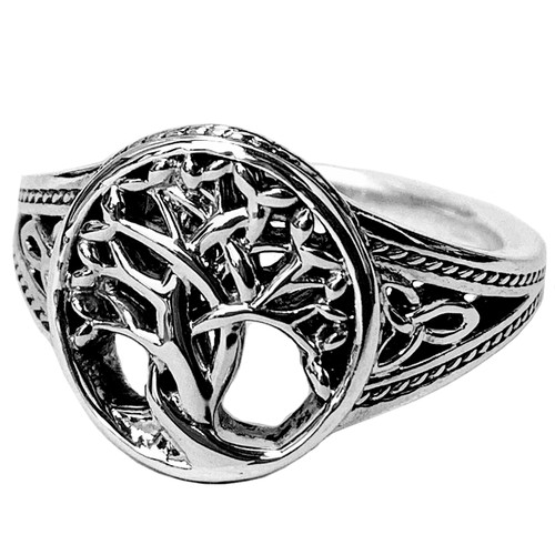 Sterling Silver and 10K Gold TREE OF LIFE Ring by KEITH JACK  PRS1284